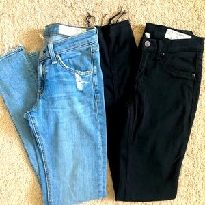 Rag & Bone Skinny Jean and Legging Bundle Sz 25